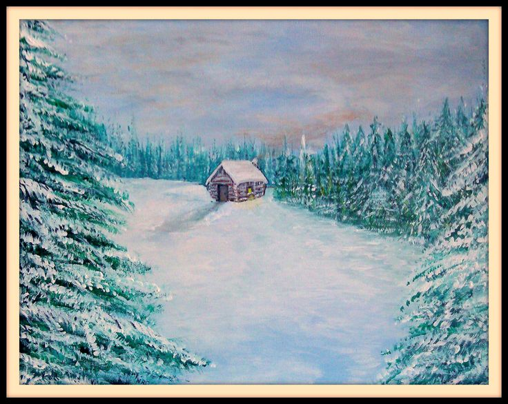 """Title: """"A Home of My Own"""", Artist"""" Nicole L. Rittenhouse - Owen, Media: Acrylic, Date: 2013,  Size: 11 x 14, Description:  Canvas panel.  This painting was recently gifted to a very hard-working and wonderful Special Education Teacher who moved into her very first residence."""