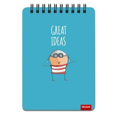 """Блокнот скетчбук для рисования и записей """"Летчик. Great ideas"""" А6 sketchbook"""