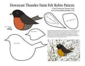 Image detail for -Robin Felt Ornament Pattern