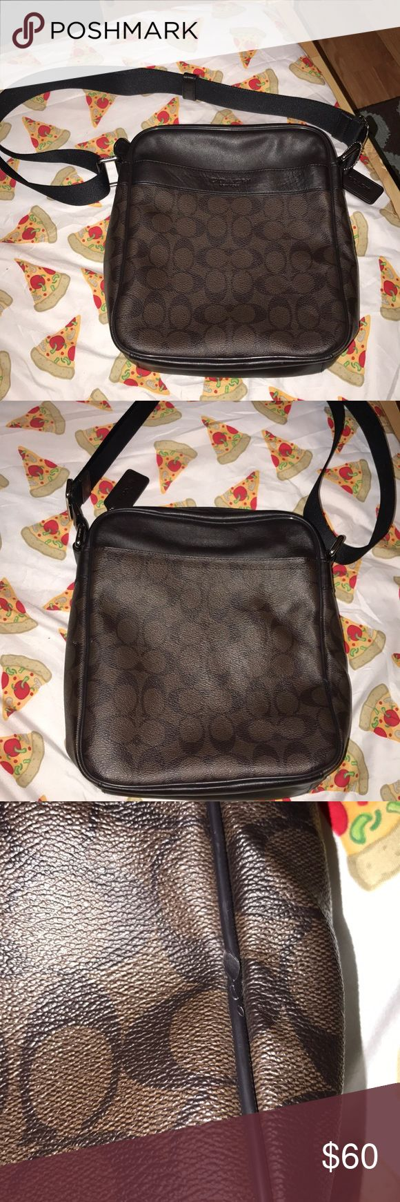 Men coach bag Men coach messenger bag!! It's used but I still have the tag that it came with it!! Still looks new what you see it what you are going to get! Coach Bags Messenger Bags