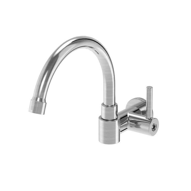 Superior Single Handle Wall Mount Kitchen Faucet With Spray Amazing Design