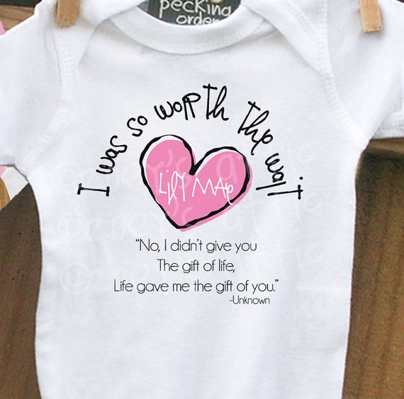 34 best adoption images on pinterest adoption announcements i was worth the wait heart adoption quote bodysuit personalized bodysuit announce an adoption or makes a great gift madt1 003 1 negle Choice Image