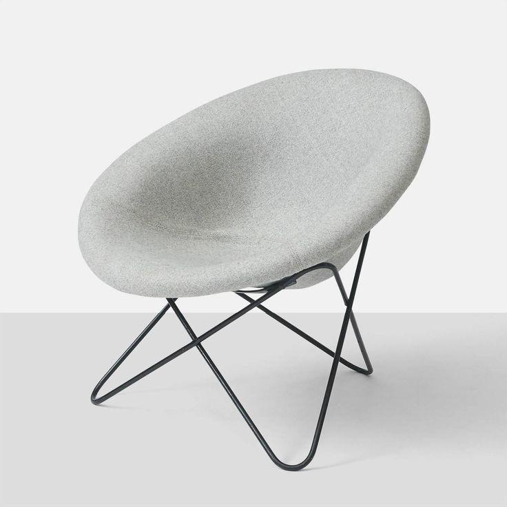 Jean Royère; Enameled Metal Lounge Chair, c1960.