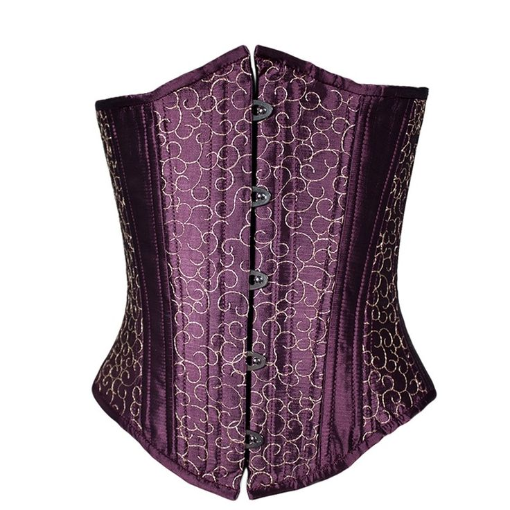 Take a look at our Purple Corset. Its beautiful gold embroidery pattern is sure to stun no matter the occasion.