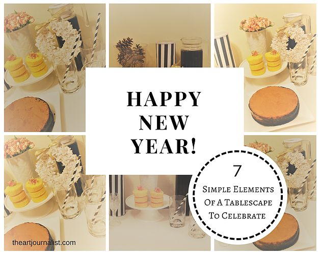 Simple Elements Of A Tablescape To Celebrate New Years Eve | theartjournalist