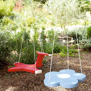 Create playful alternatives to the traditional kiddies' swing.