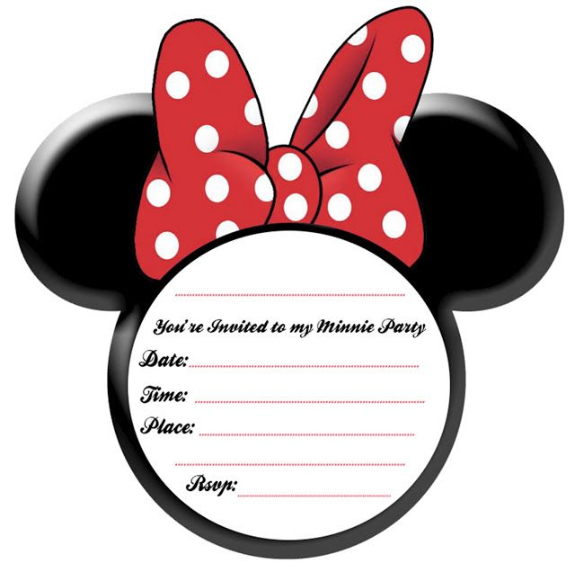 MINNIE+INVITE+RED Party Simplicity Minnie Mouse Party Ideas and Free Printables