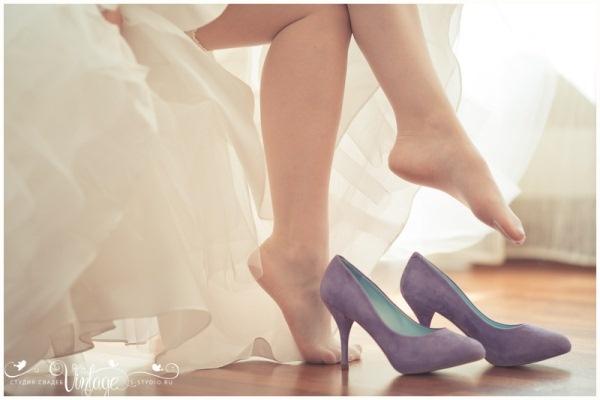 фиолетовые свадебные туфли #wedding #shoes
