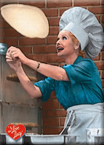 I love Lucy and she loves pizza!