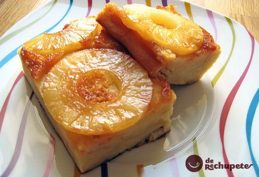 Bizcocho sencillo con un toque frutal y jugoso de la piña. Que puede hacer cualquier persona que tenga un horno y ganas de cocinar.