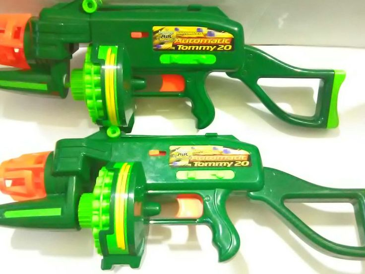 Buzz Bee Toys Air Blasters Lot of 2 Motorized Automatic Tommy 20  #BuzzBeeToys #dartgun @enjoylife35
