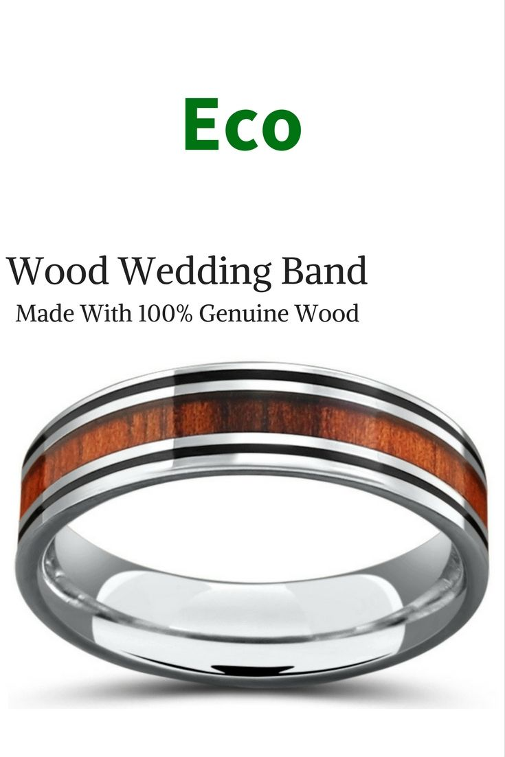 wood wedding bands mens wedding rings wood Mens Tungsten Wood Wedding Ring with Double Black Lines