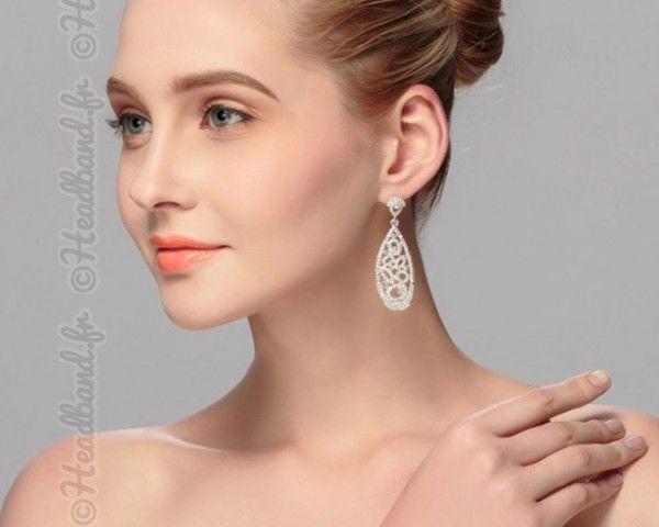 Boucles d'oreilles strass Irina