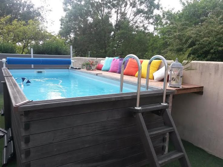 19 best piscine images on Pinterest Piscine hors sol, Ground pools - piscine hors sol beton aspect bois