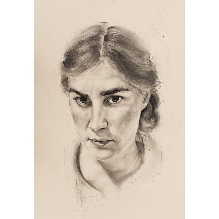 David Fooks - Q&S 61. Eloïse Charcoal Portrait
