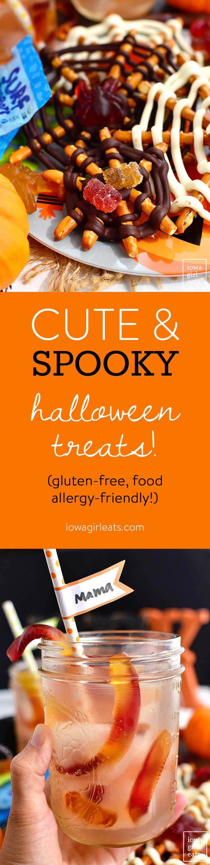 Two cute and creepy Halloween treats that are gluten-free and food allergy-friendly. Make for a Halloween party or as a fun activity with your kids! | iowagirleats.com
