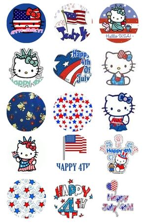 4th Of July Bottle Cap Images  That bow wearing feline