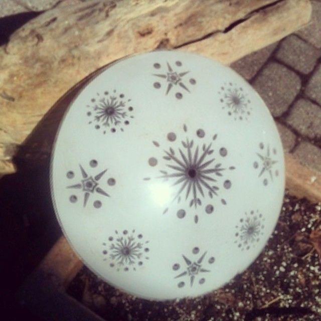 Wow! Look what I found while going through storage. A midcentury ceiling light cover with starburst . #midcentury #starburst #ceiling #light...
