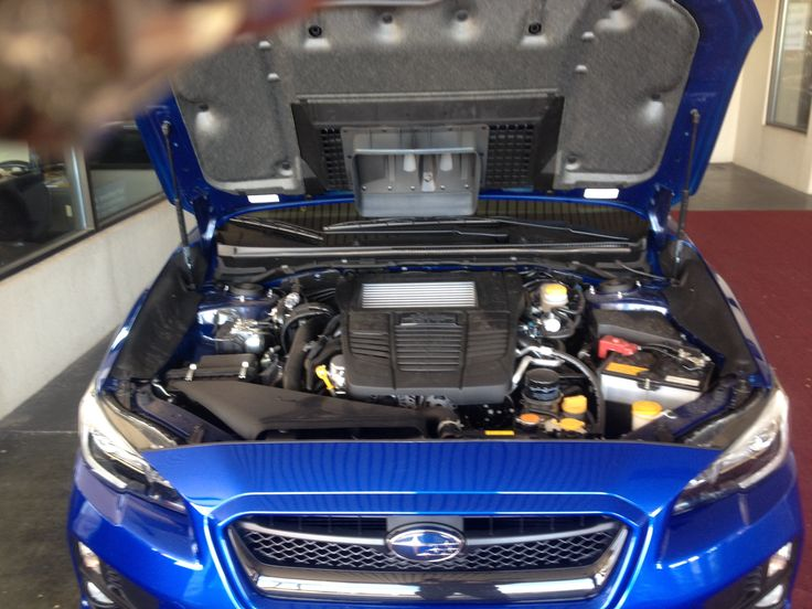 2015 WRX engine bay