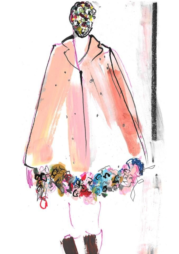 Haute Couture AW13-14 Look N°13 illustrated by Helen Bullock for A Magazine