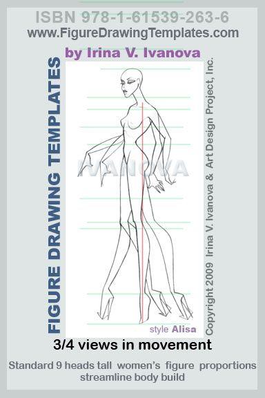 Рисунок Рисунок шаблон предназначен для рисования женского тела в движении от три четверти зрения это женская.  Этот шаблон содержит несколько позиций ног, рук и кистей рук, так что можно было бы использовать для рисования нескольких позах с различными движениями тела.