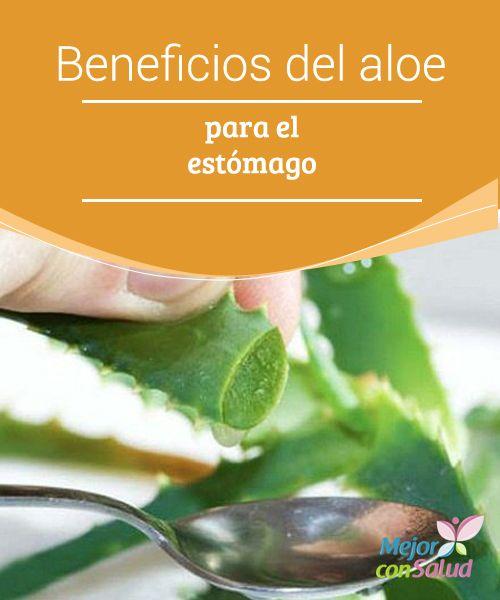 Beneficios del aloe vera para el estómago  Gracias a sus propiedades el gel de aloe vera nos ayuda a regular el pH del estómago y reduce la acidez, a la vez que mejora la hernia hiatal y el reflujo