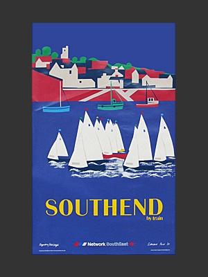 Southend Poster designed by Edward Pond, 1989 http://www.fearsandkahn.co.uk