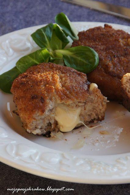 mielone sznycle z żółtym serem