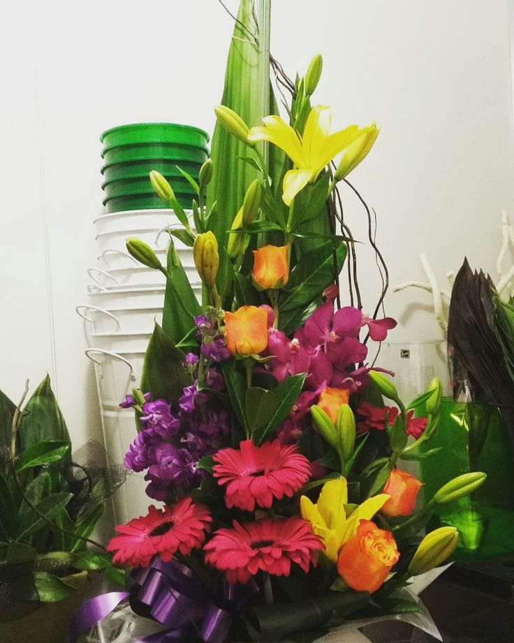 Bright flower arrangement  www.thepaperroseflorist.com.au
