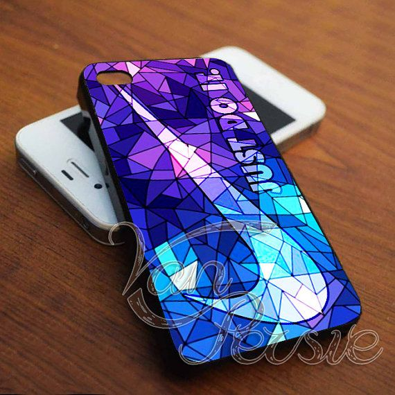 Nike JustDoIt Purple Pattern for iPhone 4/4s/5/5s/5c - Samsung Galaxy s3i9300/s4i9500 - iPod 4/5 by VANPERSIE on Etsy