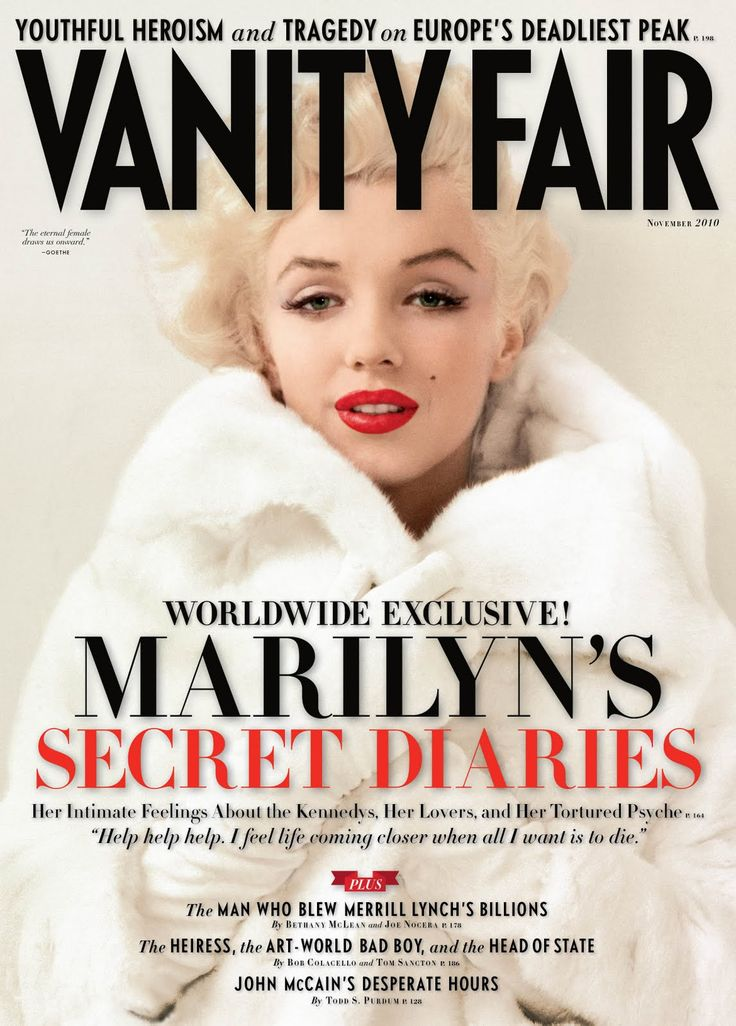 Vanity Fair cover November 2010