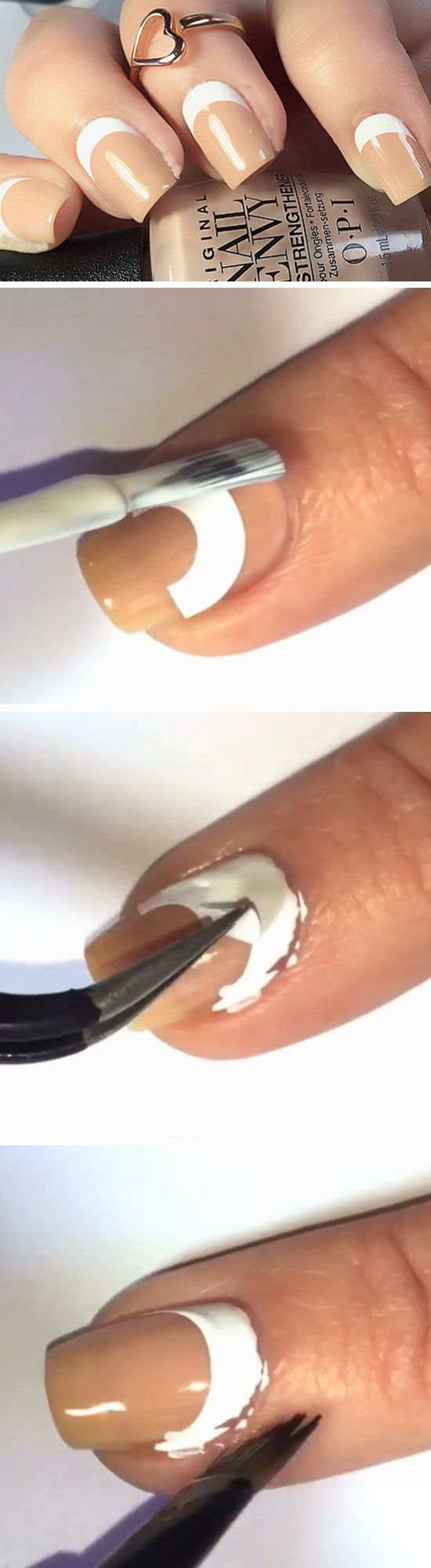 Reverse French Manicure   Easy Spring Nail Designs for Short Nails 2016