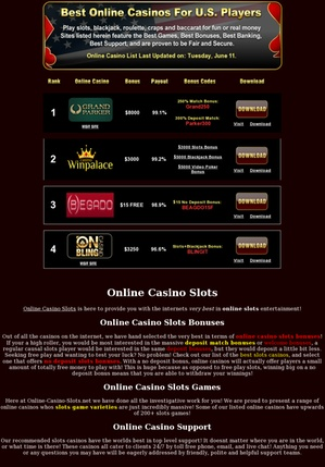 Find the best online casino slots    online-casino-slots.net