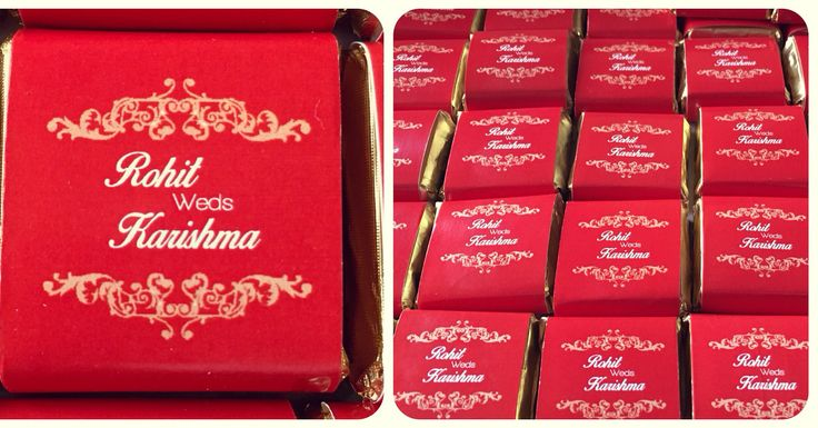 Customized Chocolates for weddings