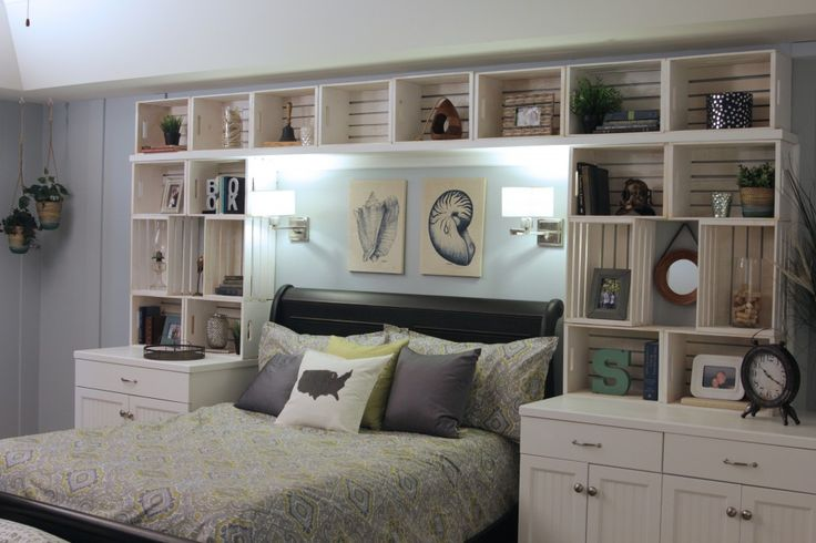 Personable Built In Bookshelves Around Bed With Built In