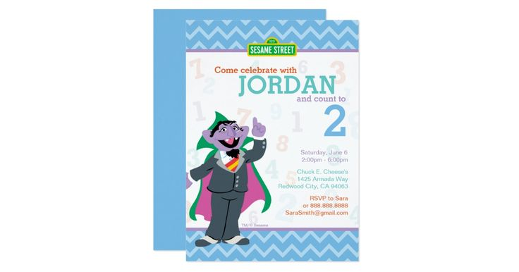 Personalize this cute Sesame Street Birthday Invitation by adding your child© s Name, Birthday and Party Details.     ©  2014 Sesame Workshop. www.sesamestreet.org