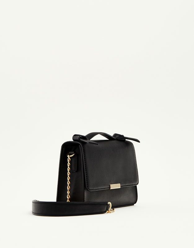 Black crossbody bag with knotted handle - Bags - Accessories - Woman - PULL&BEAR United Kingdom