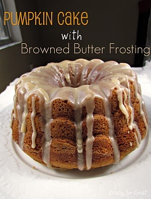 pumpkin cake with browned butter frosting pumpkin cake with browned ...