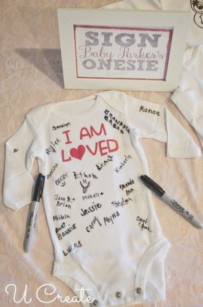 Sharpie Onesie!  What a great idea for a baby shower! Brought to you by TwistOP.com #babyshower #sharpie