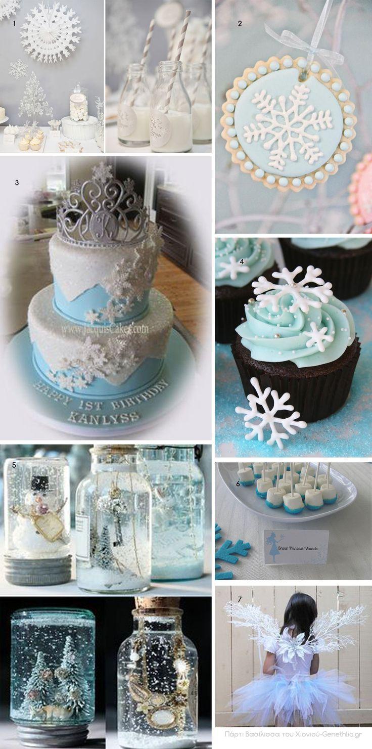 Winter party ideas-πάρτι Βασίλισσα του Χιονιού!