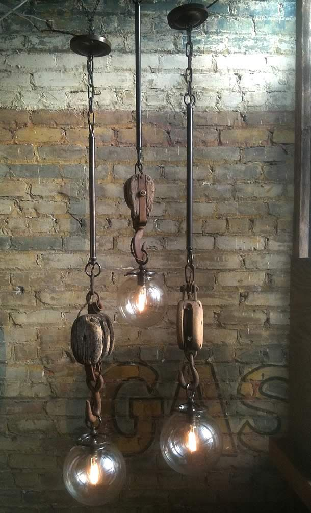 Wish I coulda found some of these old blocks and tackles and/or pulleys in our old barn!!