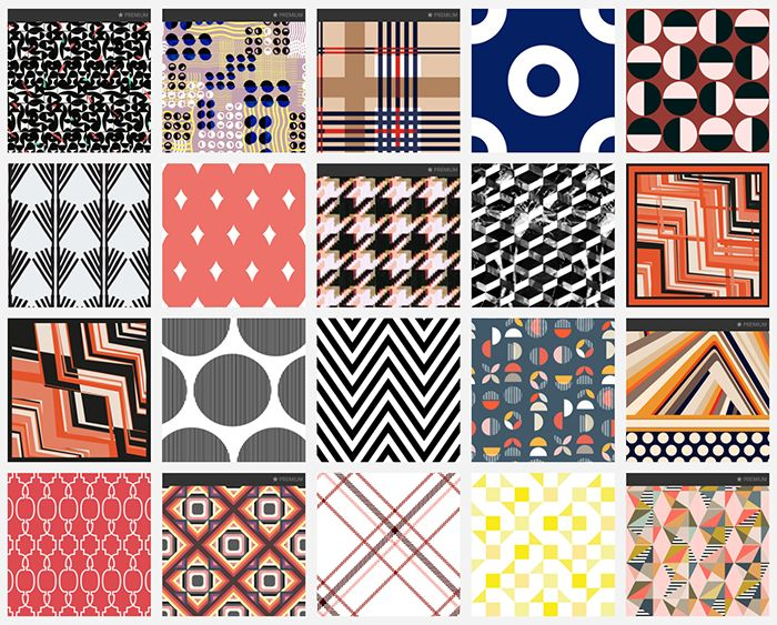 Fabric Trends 2020.Spring Summer 2020 Print Pattern Trend Exaggerated Geo
