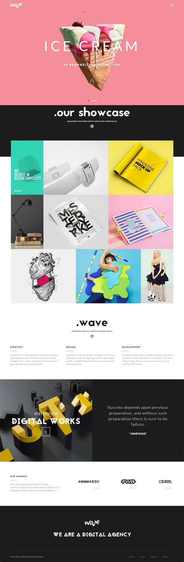 Wave / Agency & Freelance Portfolio WP Theme by Themezinho #themeforest #website #webdesign