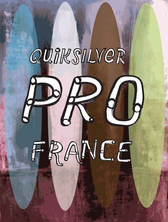 David Carson, Poster for Quiksilver Pro, France, 2011