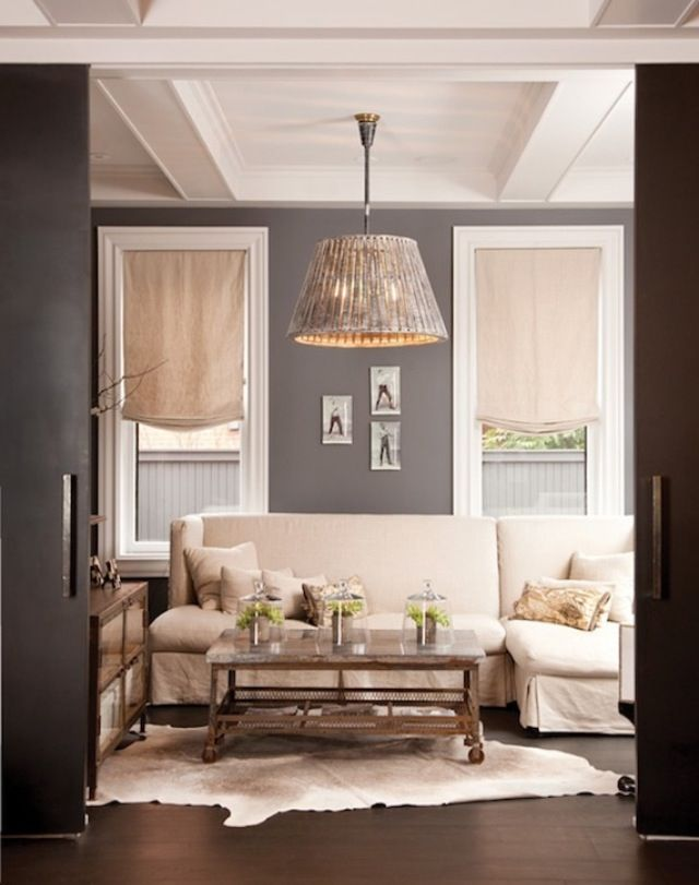 Gray Living Room Window Treatments And Wall Color