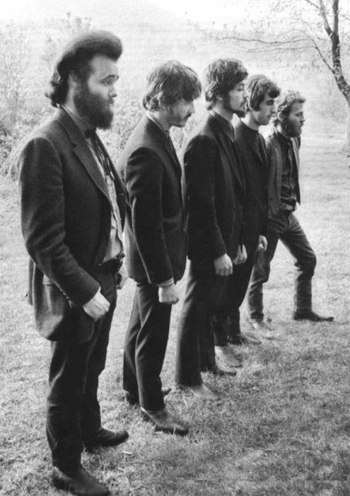 The Band: Garth Hudson, Rick Danko, Robbie Robertson, Richard Manuel, and Levon Helm.