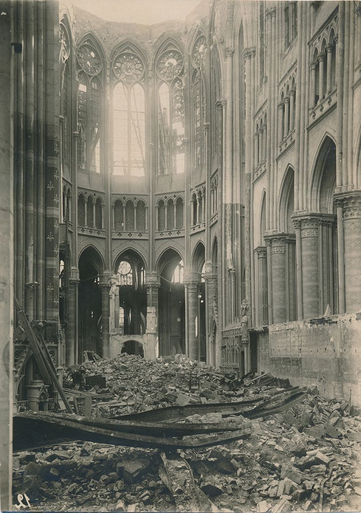 "St Quentin Cathedral in northern France. Part of ""Unseen World War ..."