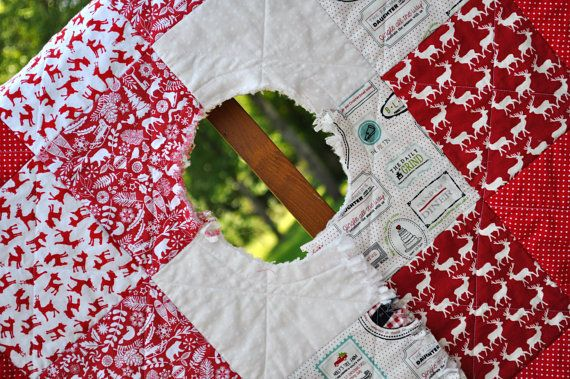 7 best Christmas Tree Skirt images on Pinterest | Christmas tree ... : rag quilt christmas tree skirt pattern - Adamdwight.com