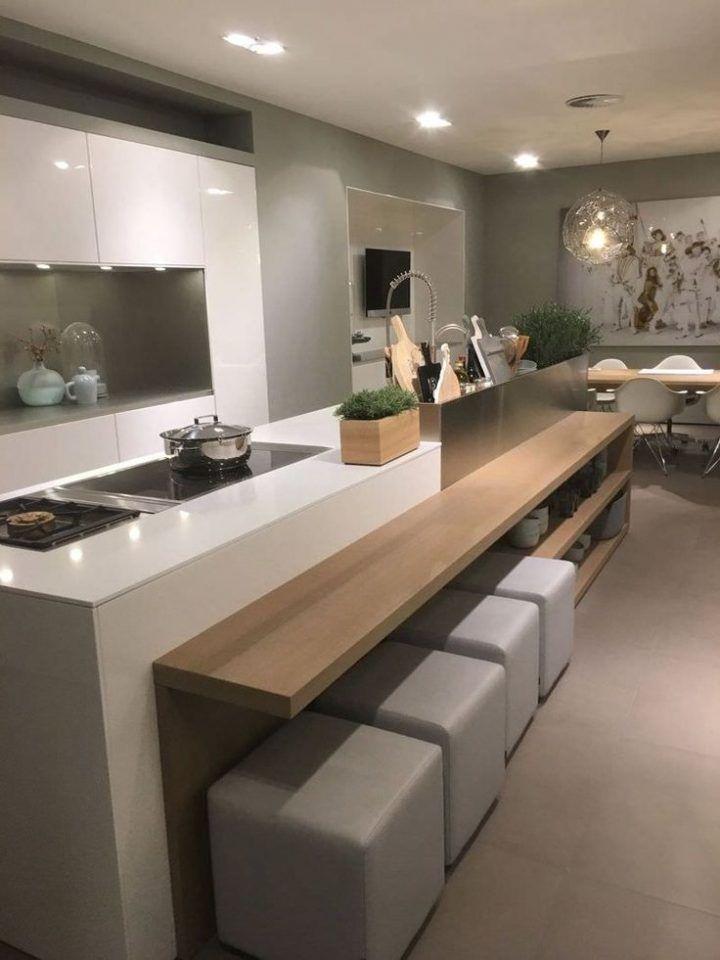 Bellissima soluzione per cucine moderne open space con isola e ...