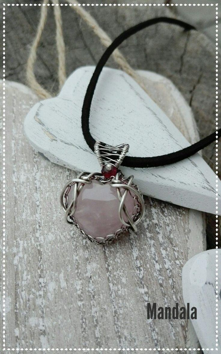Rosequartz silver jewelry by Mandala